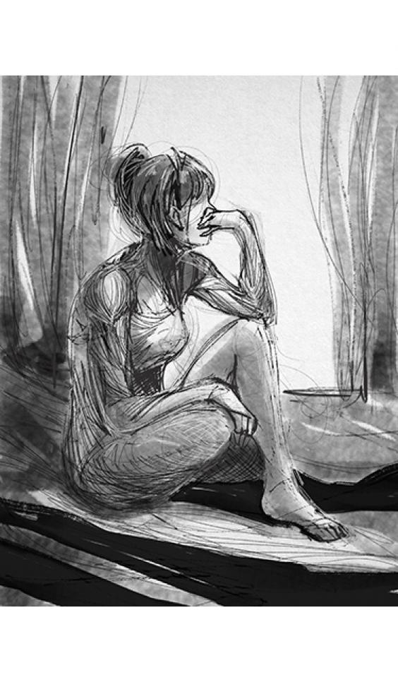 Digital artwork of a figure ; Trina Zabel