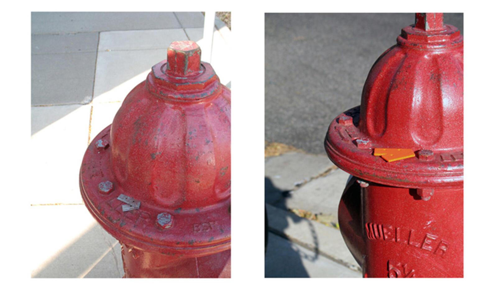 3D printed object on a fire hydrant ; Anna Kaiser