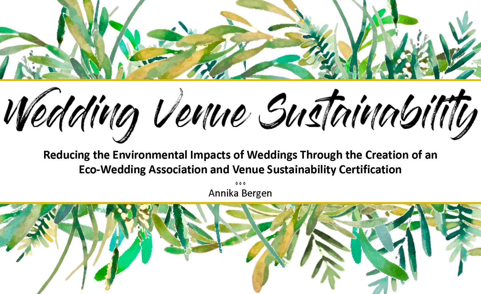 Wedding Venue Presentation ; Annika Bergen