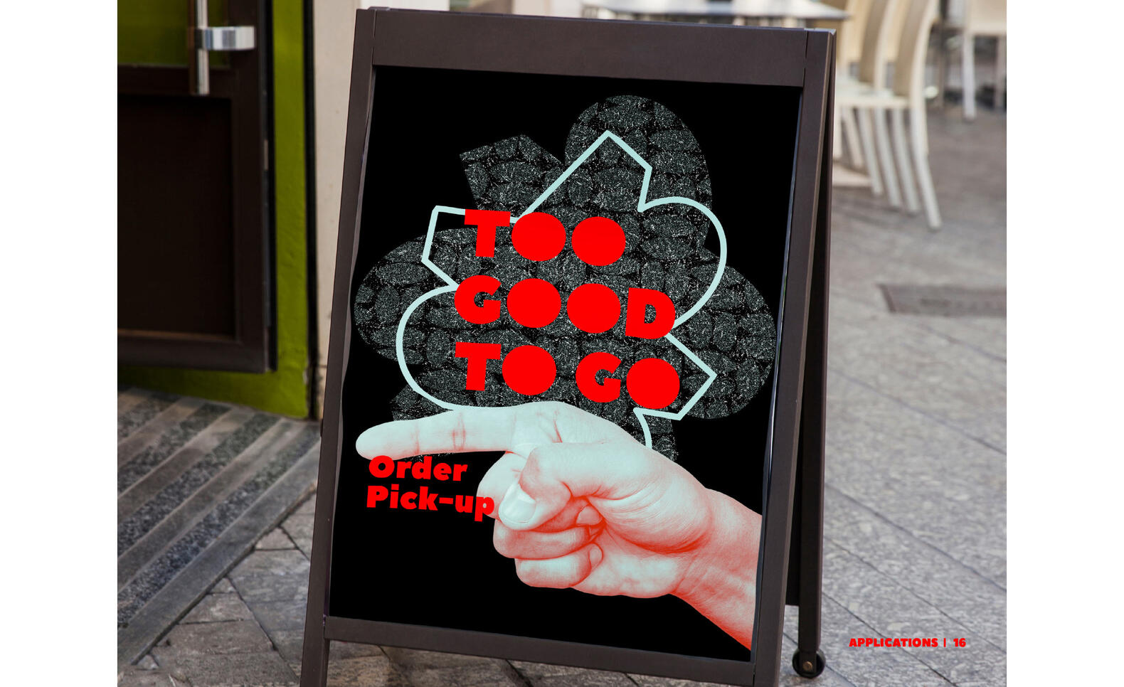 "Identity Graphic Design Mockup saying ""Too Good To Go"" ; Salim Kallista"