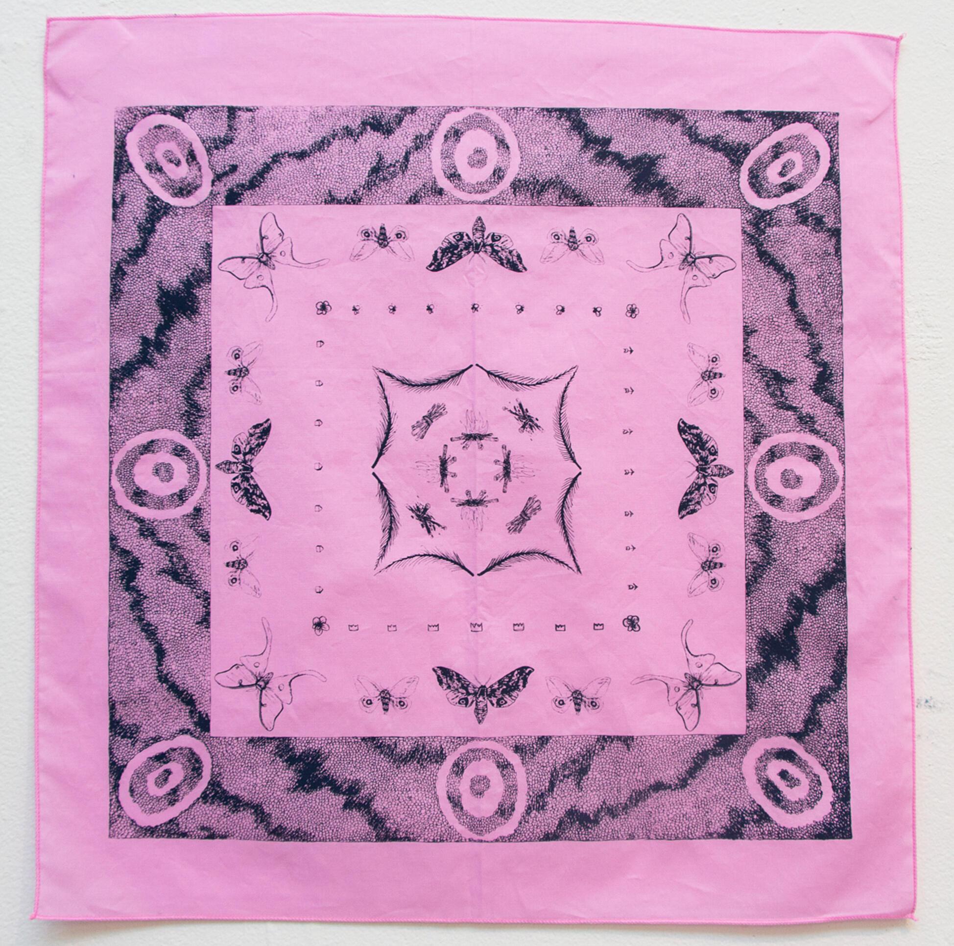 Abstract fabric pattern work ; Tuli Troiani